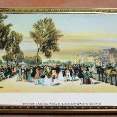 Vintage: BANDEJA DE TÉ VINTAGE MADE IN ENGLAND - WOODMET - ESTRUCTURA LATÓN. Lote 111799407