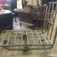 Vintage: ESPECTACULAR CARRO INDUSTRIAL METALICO DE ANTIGUA HILATURA. IDEAL DECORACION. VER MEDIDAS. LEER MAS.. Lote 111813695