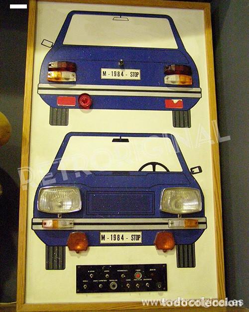 LUMINOSO AUTOESCUELA LUCES COCHE. AÑOS 1970-1980S. COMPLETO Y FUNCIONANDO. (Vintage - Varios)