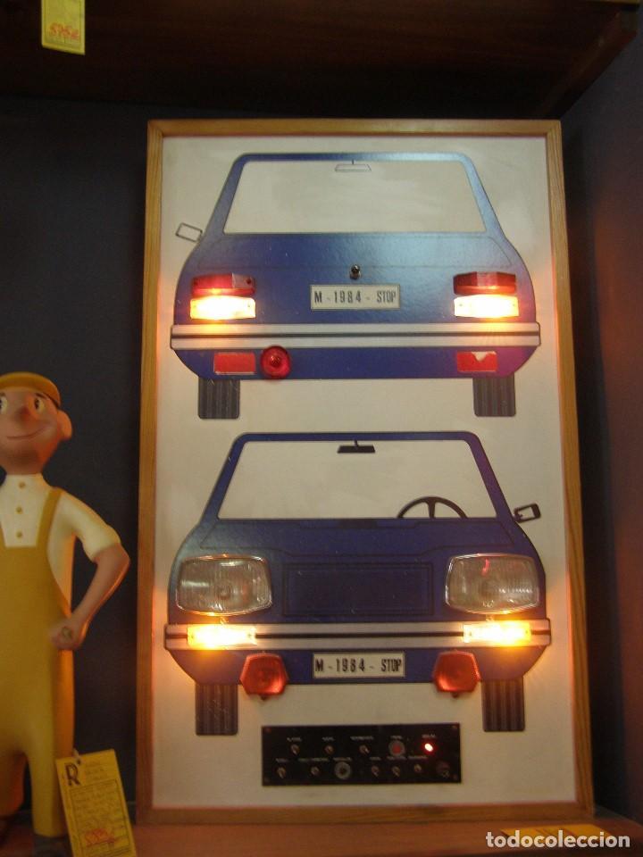 Vintage: Luminoso Autoescuela Luces Coche. Años 1970-1980s. Completo y Funcionando. - Foto 2 - 112025735