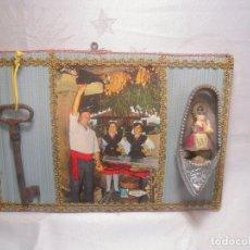 Vintage: CUELGA LLAVES RECUERDO DE ASTURIAS CON LLAVE. Lote 112133479