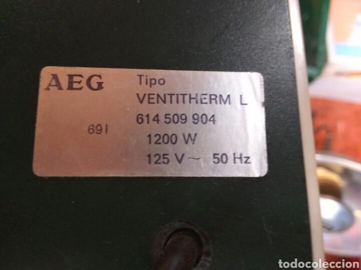Vintage: CALEFACTOR AIRE AEG 125V VER FOTOS Y DESCRP - Foto 3 - 112767155