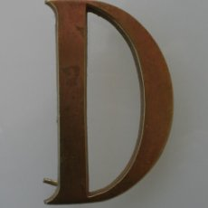 Vintage: LETRA D MAYUSCULA EN BRONCE – INICIAL DECORACION – VINTAGE - 10 CM ALTO - 0,5 CM GROSOR . Lote 112774507