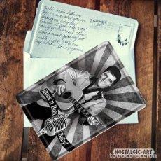 Vintage: 10194 POSTAL METALICA 10X14 ELVIS PRESLEY DECORACION VINTAGE 50'S NOSTALGIC ART. Lote 112990527