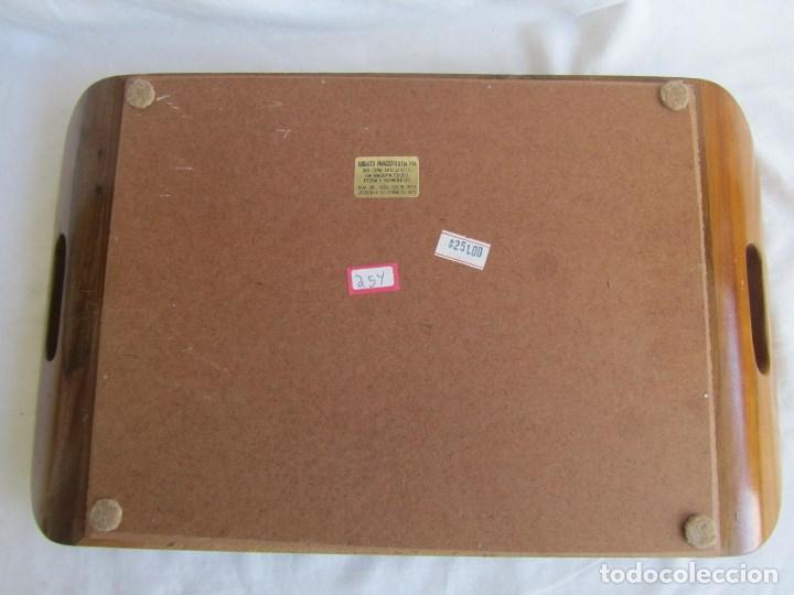 Vintage: Bandeja de madera y vidrio con mariposas. Brasil - Foto 10 - 113357163