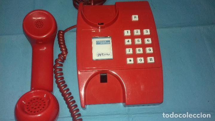 Vintage: TELEFONO ANTIGUO ROJO RUSO AÑOS 70-80 - Foto 4 - 113427739