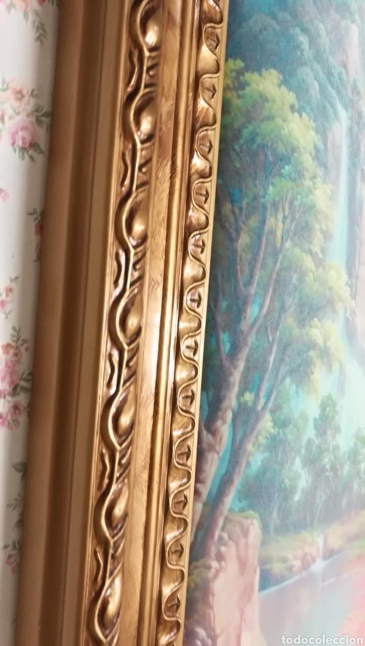 gran cuadro vintage 90 cm acolchado con marco d - Comprar en ...
