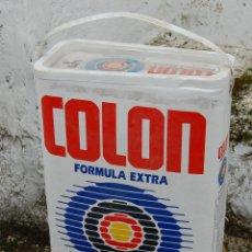 Vintage: BIDÓN BOTE TAMBOR DE DETERGENTE COLON CON TAPA ORIGINAL. Lote 114036591
