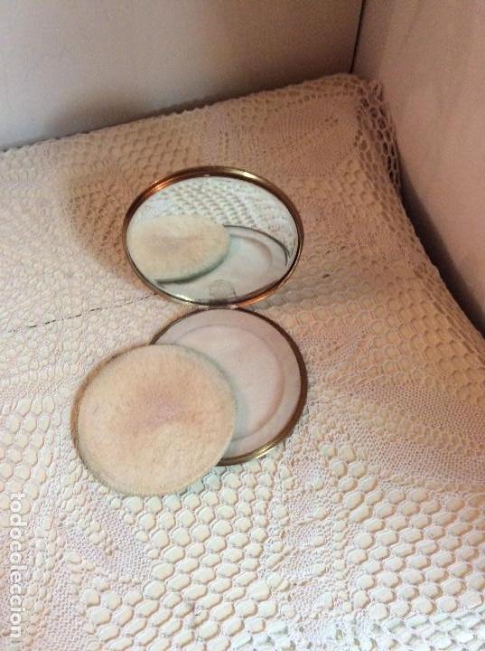 Vintage: Polvera de bolso en metal dorado, con espejo interior - Foto 3 - 114265223