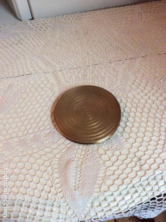 Vintage: Polvera de bolso en metal dorado, con espejo interior - Foto 6 - 114265223
