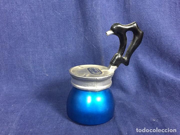 Vintage: cafetera ristretto alumnio azul baquelita irmel made in italy per alimenti años 50 60 S XX - Foto 3 - 114783691