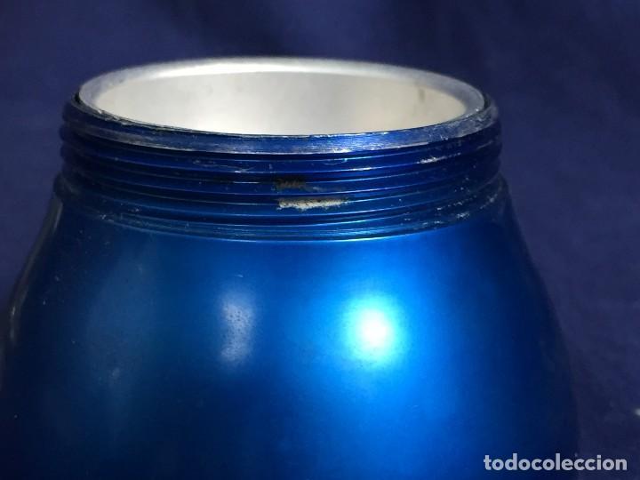 Vintage: cafetera ristretto alumnio azul baquelita irmel made in italy per alimenti años 50 60 S XX - Foto 12 - 114783691