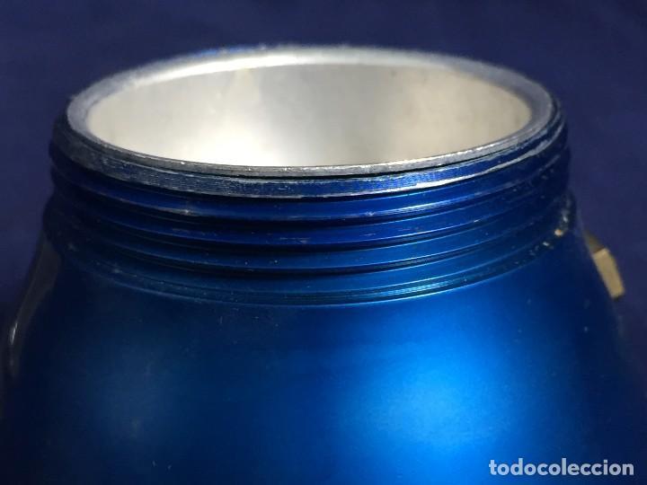 Vintage: cafetera ristretto alumnio azul baquelita irmel made in italy per alimenti años 50 60 S XX - Foto 13 - 114783691