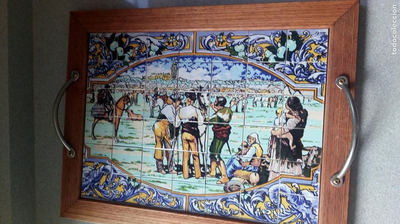 Vintage: BANDEJA MOSAICO CON ASAS - Foto 4 - 114979487