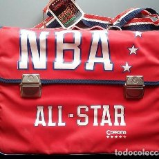 Vintage: CARTERA ESCOLAR NBA AÑOS 80 A ESTRENAR DE NYLON, DE 36X26 CM APROX. MOCHILA COPROMA. Lote 115266331