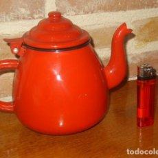 Vintage: CAFETERA O TETERA DE PORCELANA ESMALTADA.. Lote 115392547