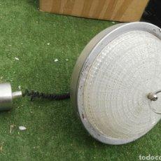 Vintage: LAMPARA VINTAGE CRISTAL Y ALUMINIO. Lote 115469430