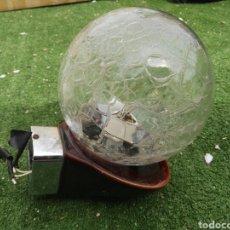 Vintage: LAMPARA VINTAGE BOLA CRISTAL Y PORCELANA. Lote 115470212