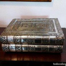 Vintage: CAJA-JOYERO HINDU DE ALPACA CON REPUJADO DE ELEFANTES - EXTENSIBLE.. Lote 115499979