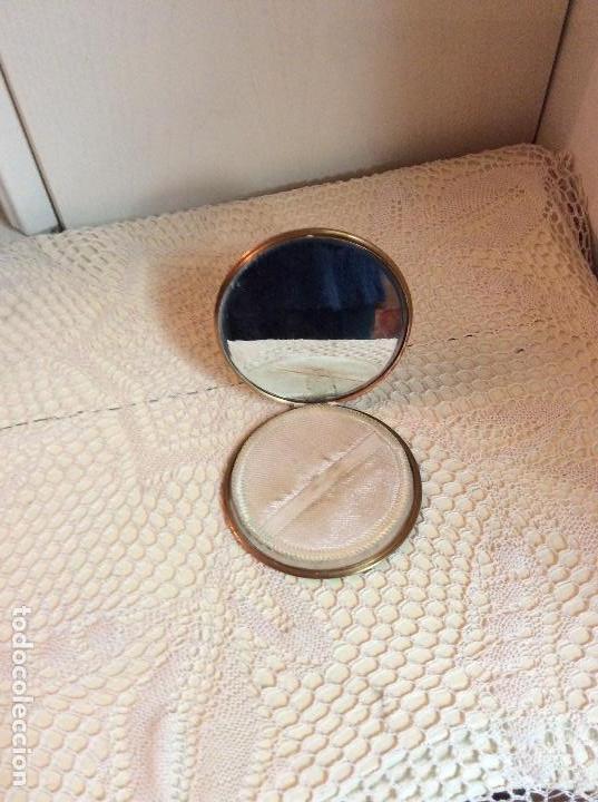 Vintage: Polvera de bolso en metal dorado, con espejo interior - Foto 2 - 114265223
