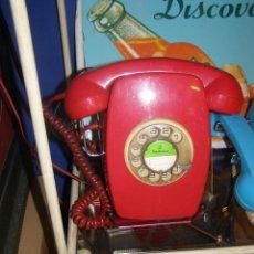 Vintage: TELÉFONO HERALDO DE PARED ROJO. ORIGINAL AÑOS 60-70S. FUNCIONANDO. Lote 116219259