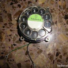 Vintage: RECAMBIO REPUESTO ORIGINAL DISCO MARCADOR DIAL PARA ANTIGUO TELÉFONO GONDOLA TELEFÓNICA MJVT. Lote 116382479