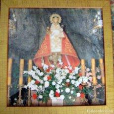 Vintage: CUADRO CON LÁMINA VIRGEN DE COVADONGA. Lote 116616207
