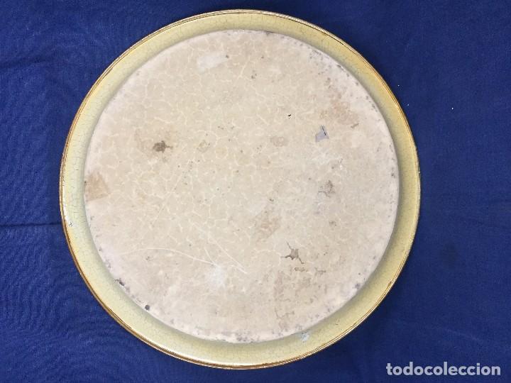 Vintage: bandeja hojalata fondo craquelado motivos dorados orientales pinceles mariposas dados caja 39,5cms - Foto 3 - 117152195
