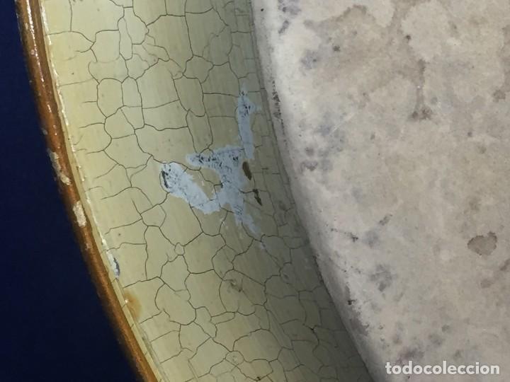 Vintage: bandeja hojalata fondo craquelado motivos dorados orientales pinceles mariposas dados caja 39,5cms - Foto 6 - 117152195