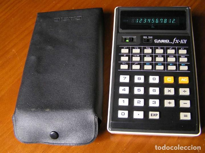 CALCULADORA CASIO FX-101 SCIENTIFIC CALCULATOR AÑOS 70 CON SU FUNDA (Vintage - Varios)