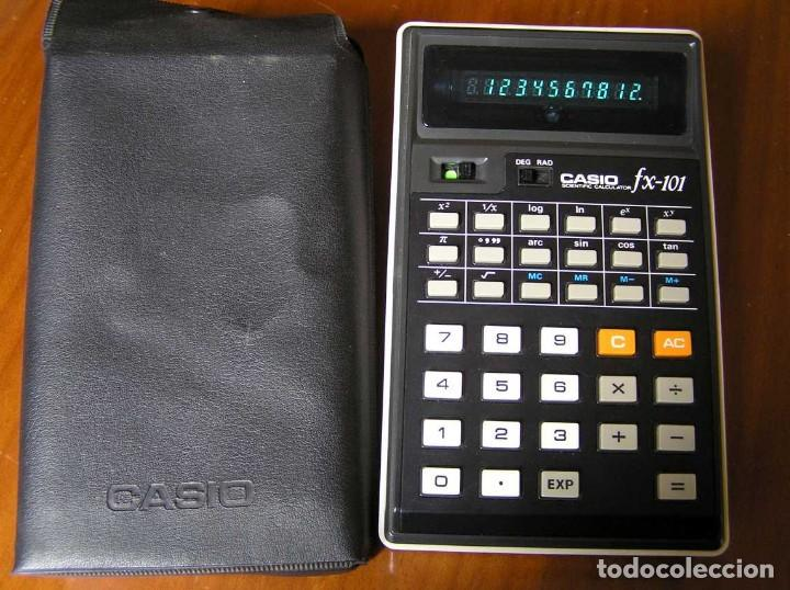 Vintage: CALCULADORA CASIO fx-101 SCIENTIFIC CALCULATOR AÑOS 70 CON SU FUNDA - Foto 9 - 117276179