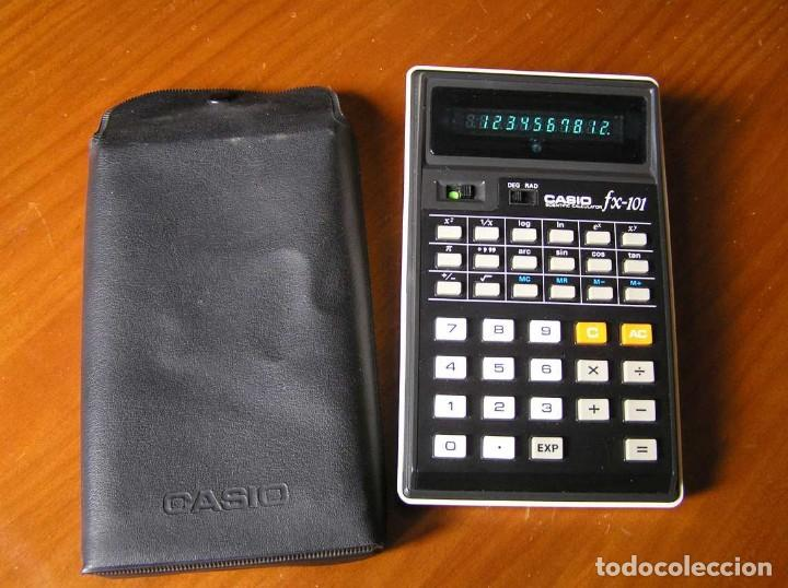 Vintage: CALCULADORA CASIO fx-101 SCIENTIFIC CALCULATOR AÑOS 70 CON SU FUNDA - Foto 13 - 117276179