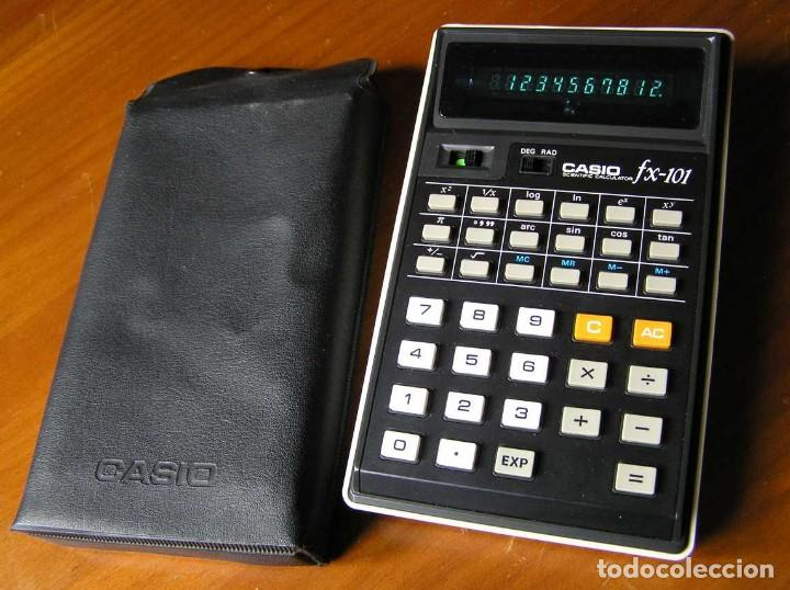 Vintage: CALCULADORA CASIO fx-101 SCIENTIFIC CALCULATOR AÑOS 70 CON SU FUNDA - Foto 14 - 117276179