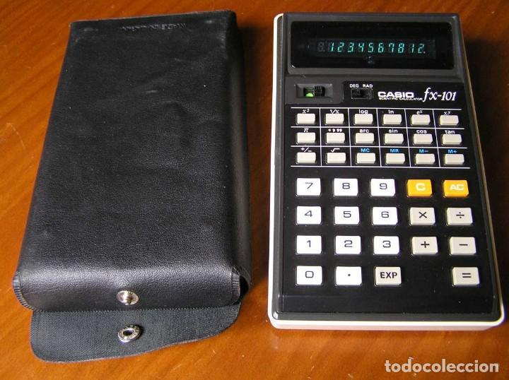 Vintage: CALCULADORA CASIO fx-101 SCIENTIFIC CALCULATOR AÑOS 70 CON SU FUNDA - Foto 18 - 117276179