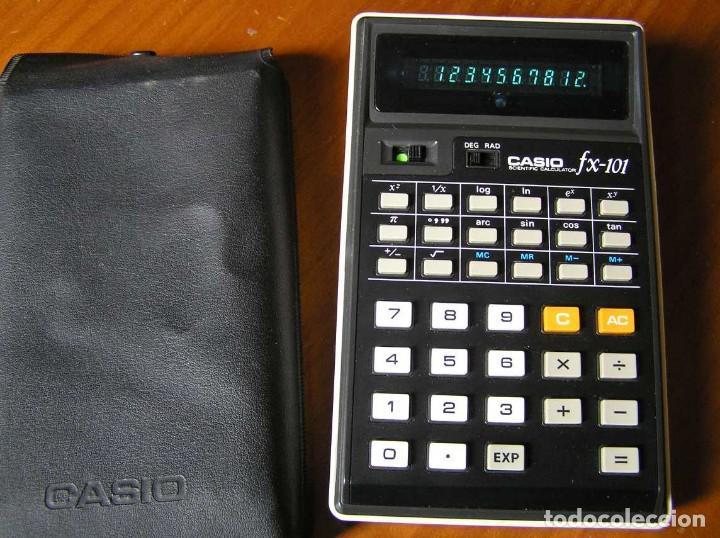 Vintage: CALCULADORA CASIO fx-101 SCIENTIFIC CALCULATOR AÑOS 70 CON SU FUNDA - Foto 22 - 117276179