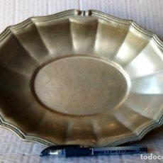 Vintage: PLATO EN METAL, ONDO Y OVAL.. Lote 117328263