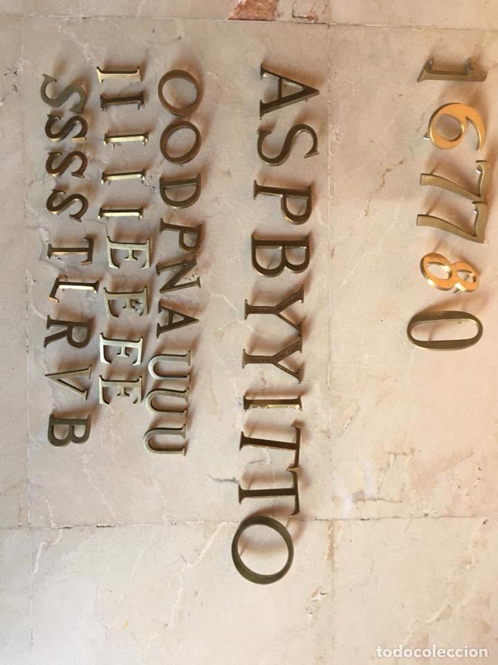 Vintage: Letras bronce macizas decoración vintage 38 piezas - Foto 4 - 58332615