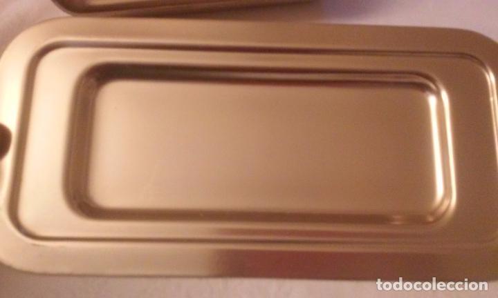 Vintage: Mantequera en aluminio color dorado, MMM (Manufacturas Metálicas Madrileñas) años 60. - Foto 2 - 118193695