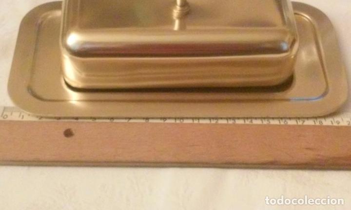 Vintage: Mantequera en aluminio color dorado, MMM (Manufacturas Metálicas Madrileñas) años 60. - Foto 9 - 118193695