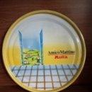 Vintage: BANDEJA LATA PUBLICIDAD AMICO MATTINO MOTTA 32 CM DIÁMETRO. Lote 118341751