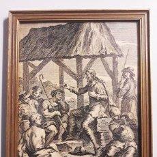 Vintage: MARCO CON CRISTAL REPRESENTANDO GRABADO ANTIGUO.. Lote 118437767