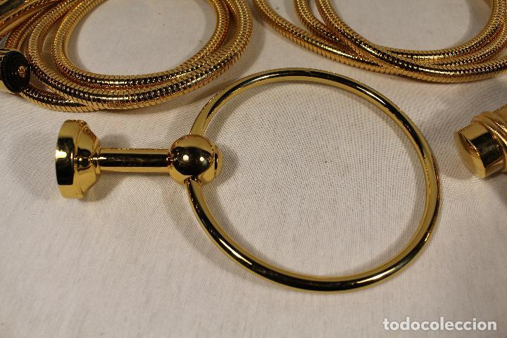 accesorios para cuarto de baño chapados en oro - Comprar ...