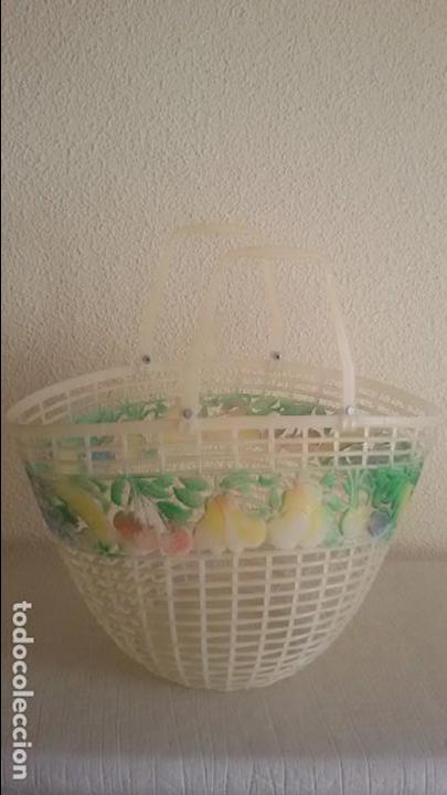 Vintage: Cesta vintage decorada con frutas. - Foto 4 - 118726915