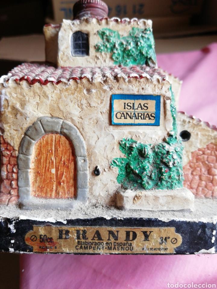 Vintage: Botella brandy figura casa islas canarias - Foto 5 - 119003312