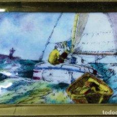 Vintage: ESMALTE ENMARCADO SOBRE OBRA DE J. SESSIONS. ESMALTES TOMAC, BARCELONA. Lote 119552051