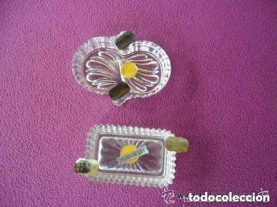 Vintage: PAREJA DE CENICEROS EN CRISTAL Y PLATA - Foto 2 - 119584639