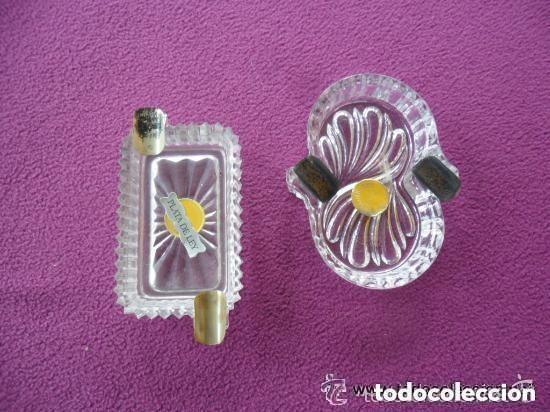 Vintage: PAREJA DE CENICEROS EN CRISTAL Y PLATA - Foto 3 - 119584639