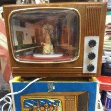 Vintage: TV COLOR,MUSICAL CON LUZ INTERIOR.IMAGEN DE LA PATRONA DE GRANADA.AÑOS 70 ARTELUX.. Lote 120144983