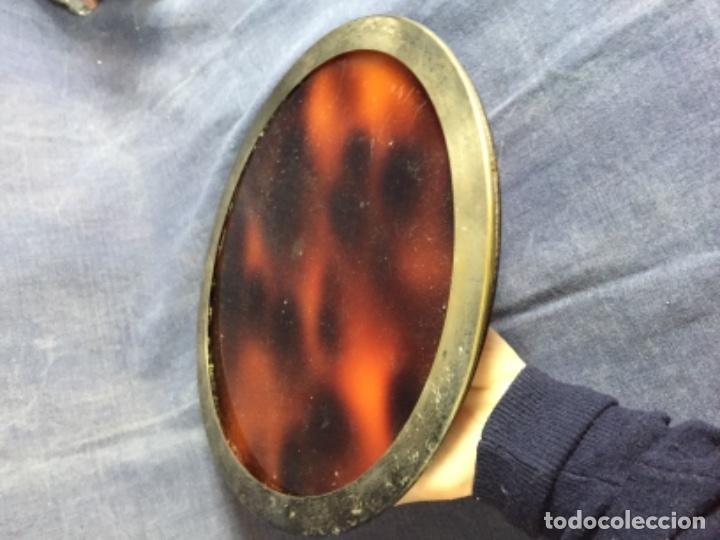 Vintage: bandeja símil carey plastico refuerzo plateado diseño años 70 para hielera decoracion guateque - Foto 4 - 121003243
