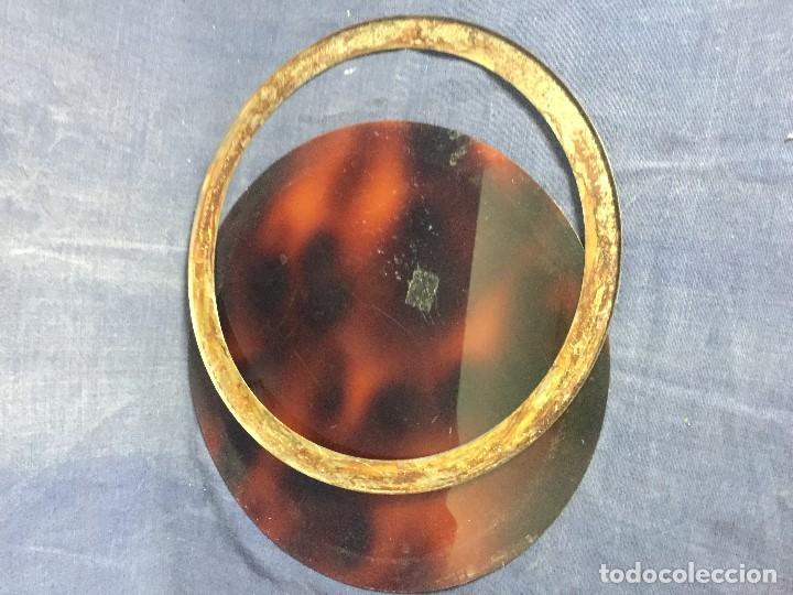 Vintage: bandeja símil carey plastico refuerzo plateado diseño años 70 para hielera decoracion guateque - Foto 3 - 121003243